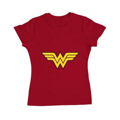 Tricou ADLER dama Wonder woman Rosu