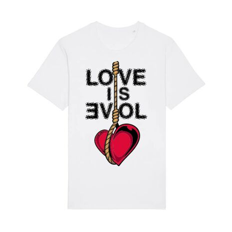 Tricou STANLEY STELLA barbat Love is evil Alb