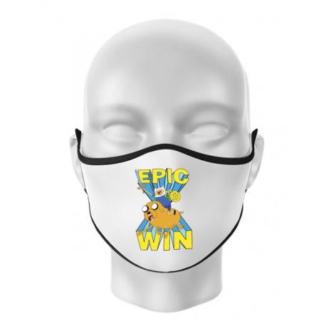 Masca personalizata reutilizabila Epic win Alb