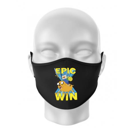 Masca personalizata reutilizabila Epic win Negru