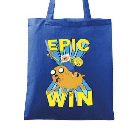 Sacosa din panza Epic win Albastru regal