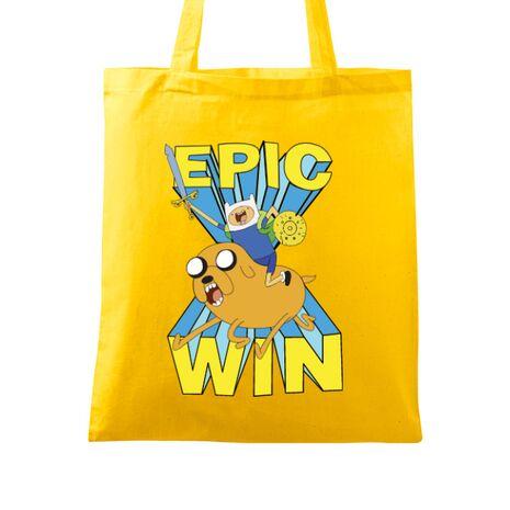 Sacosa din panza Epic win Galben
