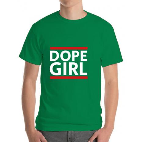 Tricou ADLER barbat Dope girl Verde mediu