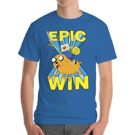 Tricou ADLER barbat Epic win Albastru azuriu