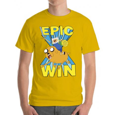Tricou ADLER barbat Epic win Galben