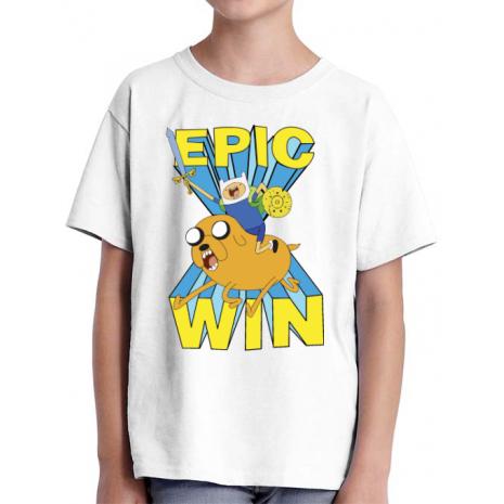 Tricou ADLER copil Epic win Alb