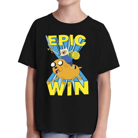 Tricou ADLER copil Epic win Negru