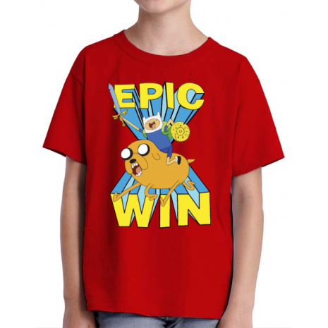 Tricou ADLER copil Epic win Rosu