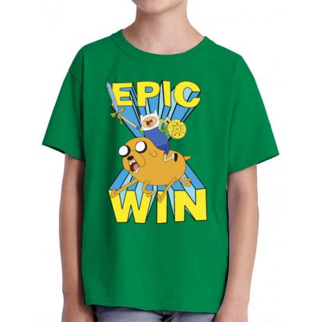 Tricou ADLER copil Epic win Verde mediu