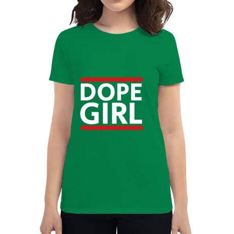 Tricou ADLER dama Dope girl Verde mediu