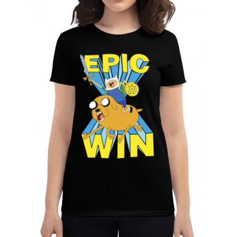 Tricou ADLER dama Epic win Negru