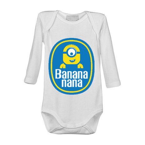 Baby body Bananana Alb