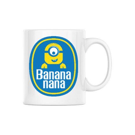 Cana personalizata Bananana Alb