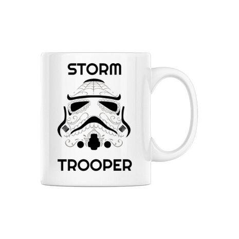 Cana personalizata Storm trooper Alb