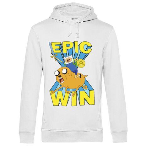 Hoodie barbat cu gluga Epic win Alb