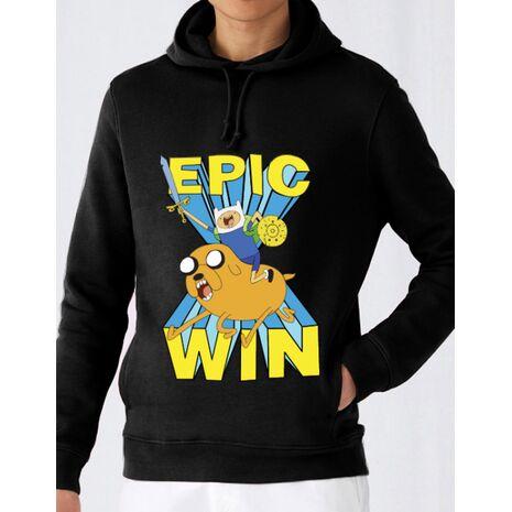 Hoodie barbat cu gluga Epic win Negru