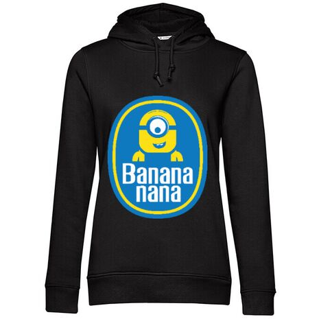 Hoodie dama cu gluga Bananana Negru