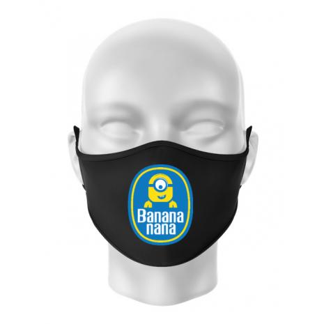 Masca personalizata reutilizabila Bananana Negru