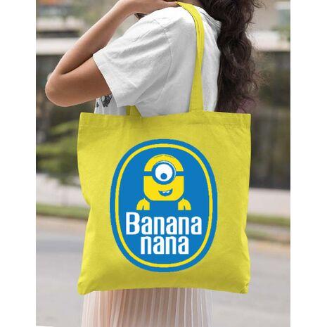 Sacosa din panza Bananana Galben