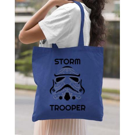 Sacosa din panza Storm trooper Albastru regal