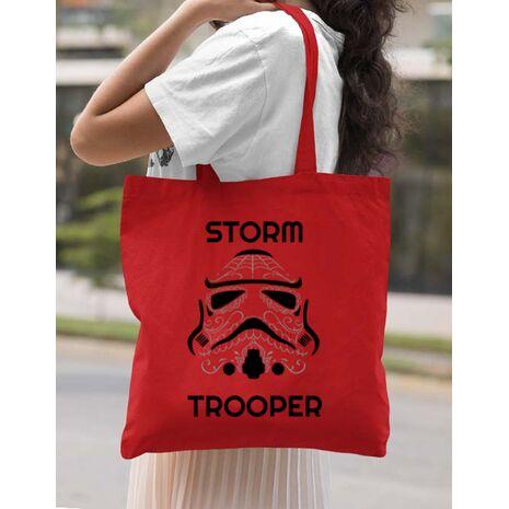 Sacosa din panza Storm trooper Rosu