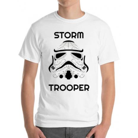 Tricou ADLER barbat Storm trooper Alb