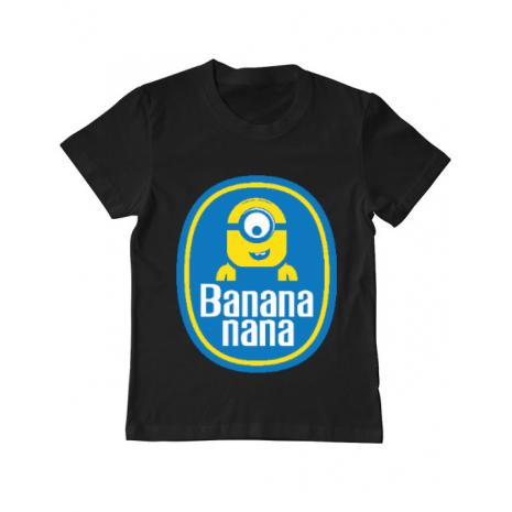 Tricou ADLER copil Bananana Negru