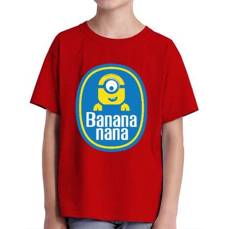 Tricou ADLER copil Bananana Rosu