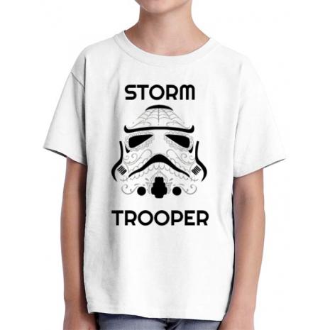 Tricou ADLER copil Storm trooper Alb