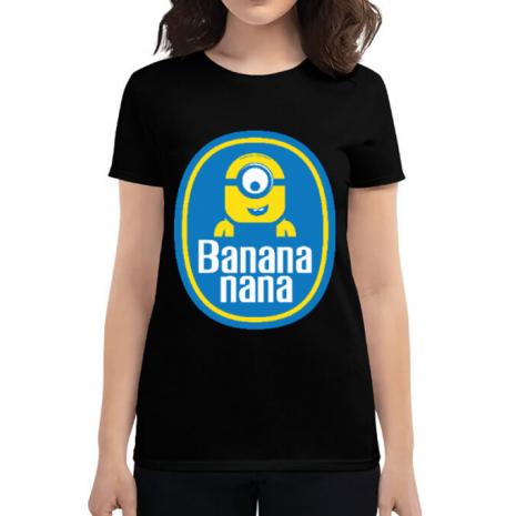 Tricou ADLER dama Bananana Negru