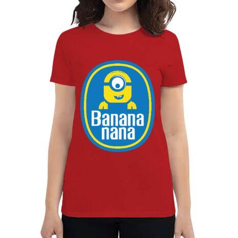 Tricou ADLER dama Bananana Rosu