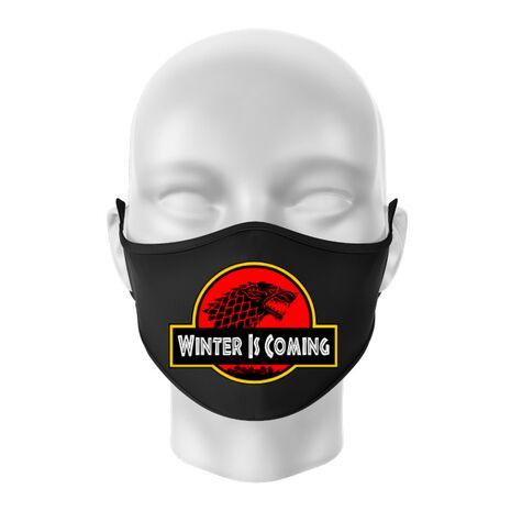Masca personalizata reutilizabila Jurassic winter Negru