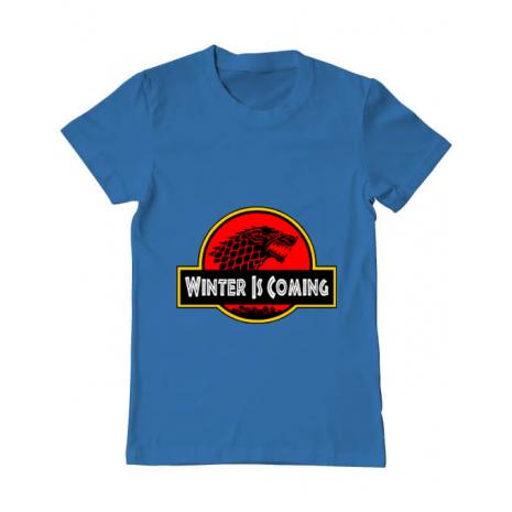 Tricou ADLER barbat Jurassic winter Albastru azuriu