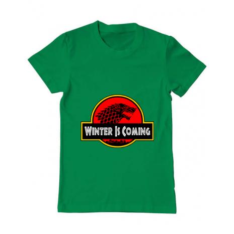 Tricou ADLER barbat Jurassic winter Verde mediu