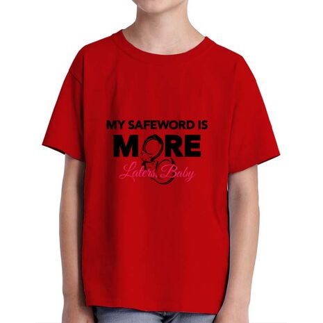 Tricou ADLER copil My safeword is more Rosu