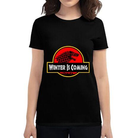 Tricou ADLER dama Jurassic winter Negru