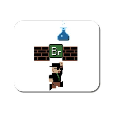 Mousepad personalizat Breaking Mario Alb