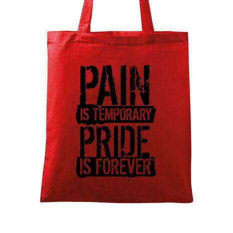 Sacosa din panza Pain and pride Rosu