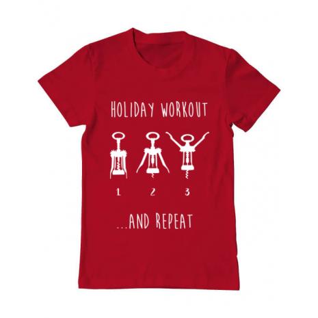 Tricou ADLER barbat Holiday workout Rosu