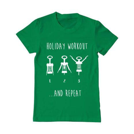 Tricou ADLER barbat Holiday workout Verde mediu