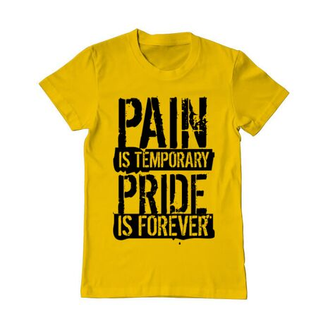 Tricou ADLER barbat Pain and pride Galben