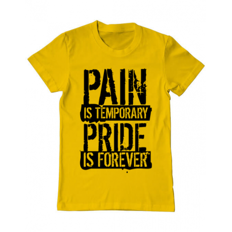 Tricou ADLER barbat Pain and pride Galben