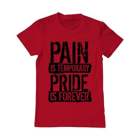 Tricou ADLER barbat Pain and pride Rosu