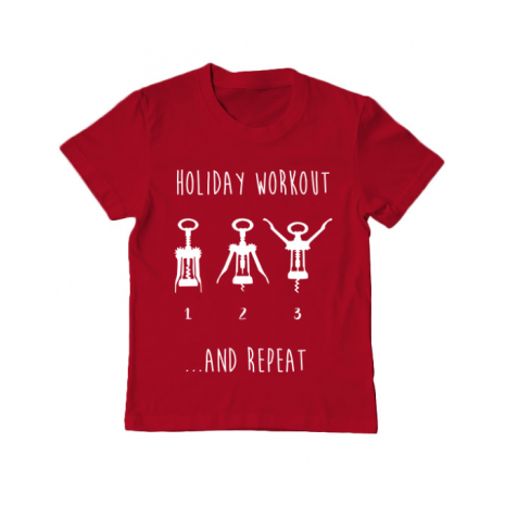 Tricou ADLER copil Holiday workout Rosu