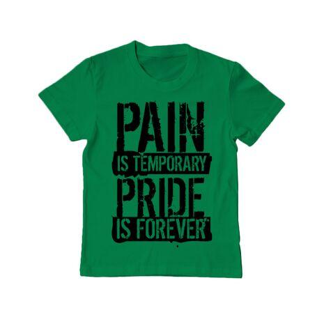 Tricou ADLER copil Pain and pride Verde mediu