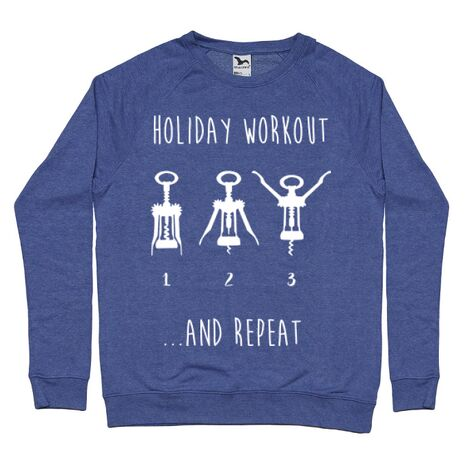 Bluza ADLER barbat Holiday workout Albastru melanj