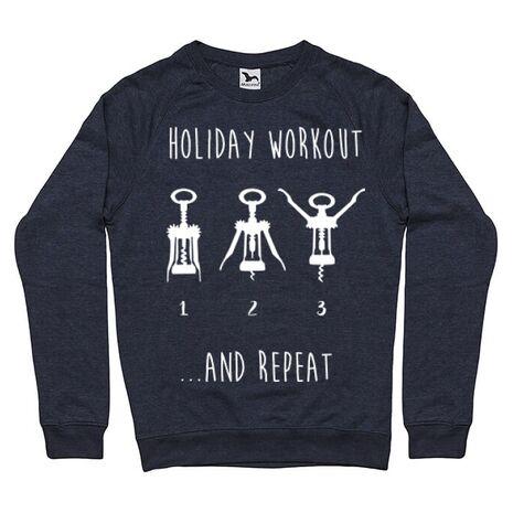Bluza ADLER barbat Holiday workout Denim inchis