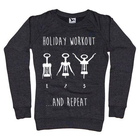 Bluza ADLER dama Holiday workout Negru melanj