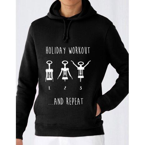 Hoodie barbat cu gluga Holiday workout Negru