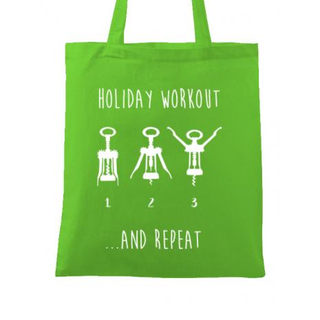 Sacosa din panza Holiday workout Verde mar